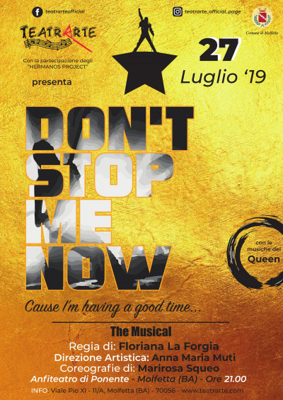 Don't  Stop  Me  Now. Il Musical